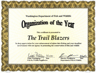 WDFW Organization of the Year 1997